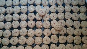 Biscuits d'amande de farine d'avoine Images stock