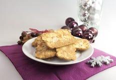 Biscuits d'amande de vacances photos libres de droits