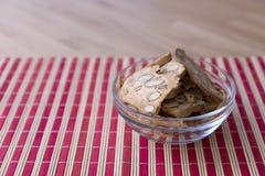 Biscuits d'amande faits maison Photos libres de droits