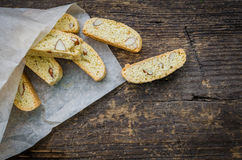 Biscuits d'amande faits maison photos stock