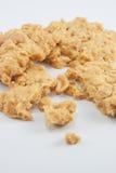 Biscuits d'amande sur le fond blanc Image stock