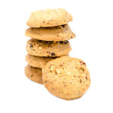 Biscuits d'amande sur le fond blanc Images libres de droits
