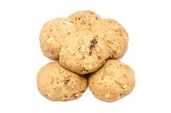 Biscuits d'amande sur le fond blanc Photo stock