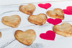 Biscuits d'amour Photographie stock libre de droits