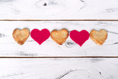 Biscuits d'amour Photos stock