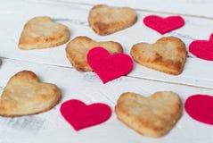 Biscuits d'amour Images libres de droits