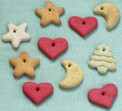 Biscuits d'arbre de Noël images libres de droits