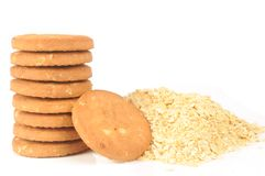 Biscuits d'avoine image libre de droits