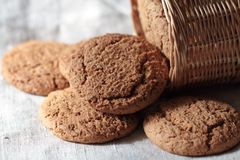 Biscuits d'avoine Images stock