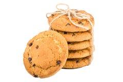 Biscuits d'avoine avec des raisins secs Images stock