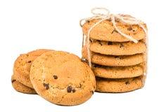 Biscuits d'avoine avec des raisins secs Photographie stock