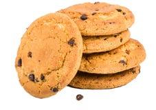Biscuits d'avoine avec des raisins secs Images libres de droits
