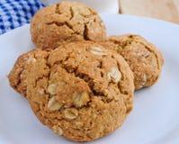 Biscuits d'avoine roulée image libre de droits