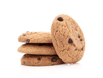 Biscuits d'avoine sur le blanc Images libres de droits