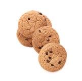 Biscuits d'avoine sur le blanc Image stock