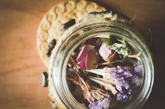 Biscuits d'herbes et café, photos mignonnes Photographie stock libre de droits