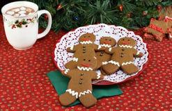 Biscuits d'homme de pain d'épice Image libre de droits