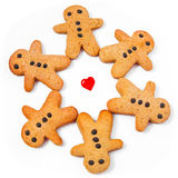 Biscuits d'hommes Images libres de droits
