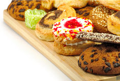 Biscuits d'isolat image stock