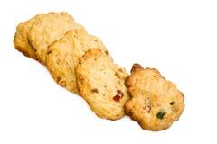 Biscuits d'isolement sur le fond blanc Images libres de droits