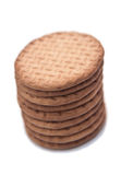Biscuits d'isolement sur le fond blanc Photographie stock libre de droits