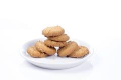 Biscuits d'isolement sur le fond blanc Image libre de droits