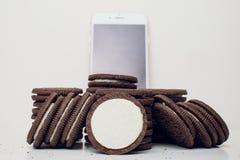 Biscuits d'Oreo photographie stock libre de droits