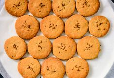 Biscuits d'Osmania - biscuits ou biscuits indiens de jeera photographie stock libre de droits