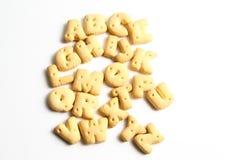 Biscuits d'un alphabet Photographie stock