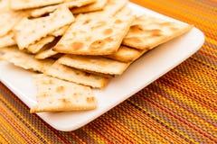 Biscuits d'un plat Photo stock