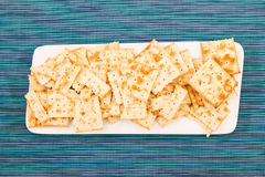 Biscuits d'un plat Image stock