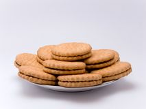 Biscuits d'une plaque Photos libres de droits