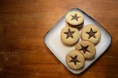 Biscuits d'une plaque Photographie stock
