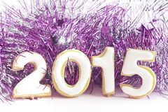 Biscuits dans la forme de 2015 Photos stock