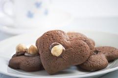 Biscuits dans la forme du coeur Photographie stock