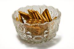Biscuits dans un vase en verre Image libre de droits