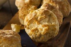 Biscuits de babeurre Flakey faits maison photos libres de droits