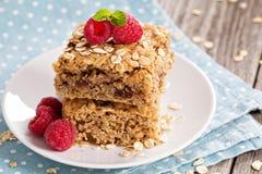 Biscuits de barre d'avoine image libre de droits