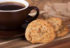 Biscuits de beurre d'arachide Images libres de droits