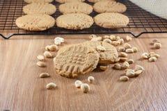 Biscuits de beurre d'arachide Image libre de droits