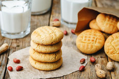 Biscuits de beurre d'arachide Images stock