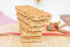 Biscuits de beurre d'arachide sur la table de nourriture photos stock