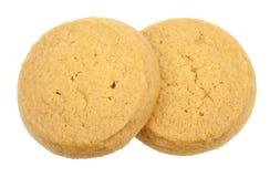 Biscuits de beurre d'isolement Image libre de droits