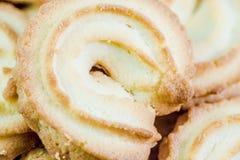 Biscuits de beurre danois macro image libre de droits