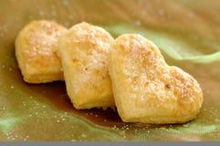 Biscuits de beurre de coeur Image libre de droits