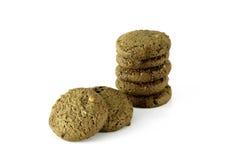 Biscuits de beurre de puce de chocolat Images libres de droits