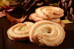 Biscuits de beurre de vacances Photos stock