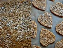 Biscuits de beurre pour le jour de mère Photographie stock libre de droits