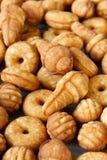 Biscuits de biscuit de différentes formes Vue supérieure photo libre de droits