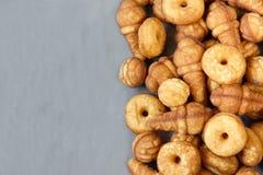Biscuits de biscuit de différentes formes Vue supérieure photo stock